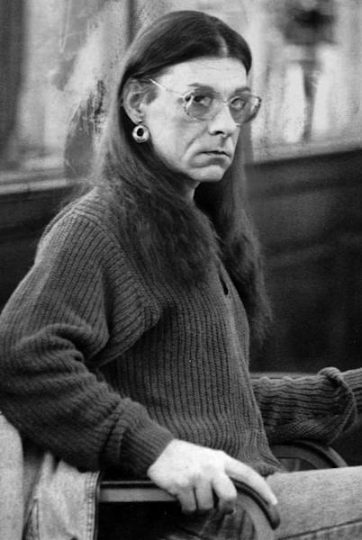 FILE - In this Jan. 15, 1993 file photo, Robert Kosilek sits in Bristol County Superior Court, in New Bedford, Mass., where Kosilek was on trial for the May 1990 murder of his wife. Kosilek was convicted in the murder, and has been living as a woman, Michelle Kosilek, and receiving hormone treatments while serving life in prison in Massachusetts. On Tuesday, Sept. 4, 2012, U.S. District Judge Mark Wolf ordered Massachusetts to provide a taxpayer-funded sex-change operation for Kosilek. (AP Photo/Lisa Bul, File)