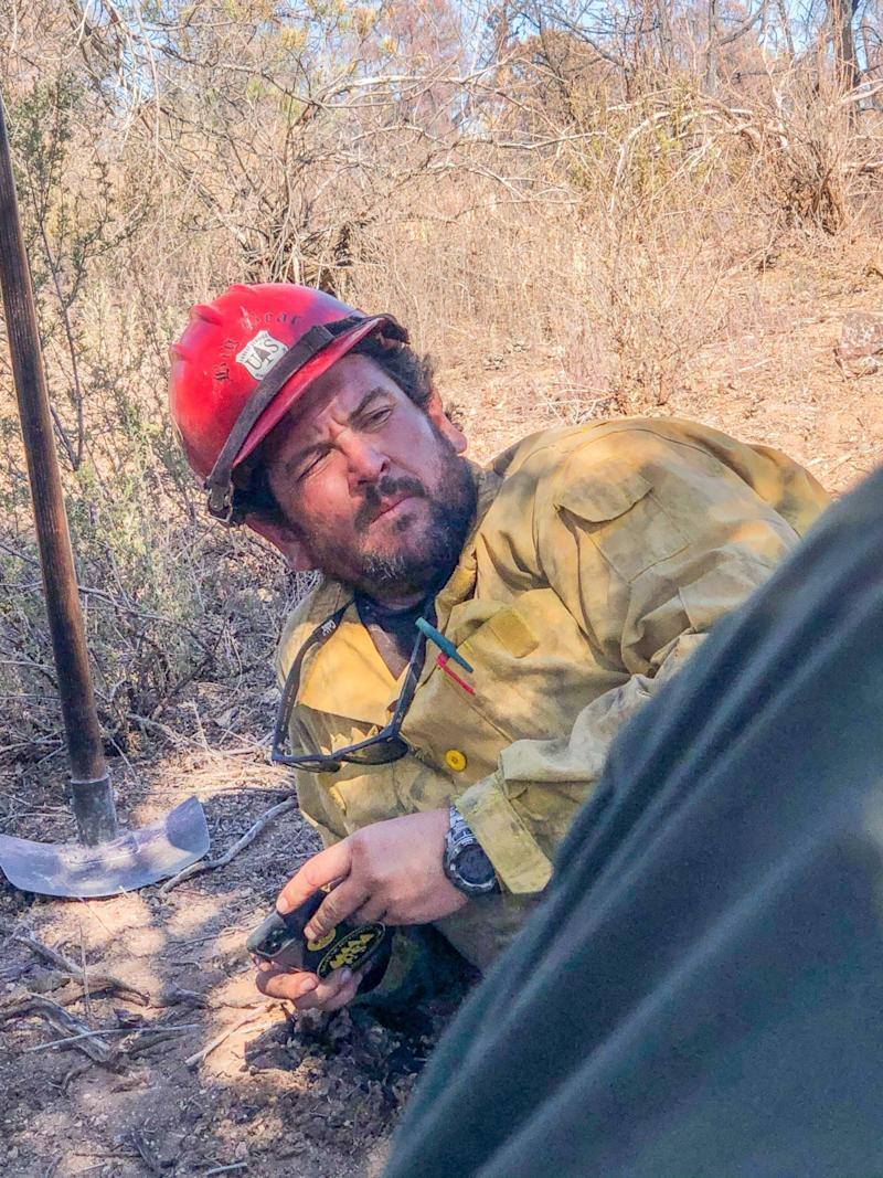 Charles Morton, a Big Bear Interagency Hotshot Squad boss, died while fighting the El Dorado Fire in Southern California late Thursday, Sept. 17, 2020.