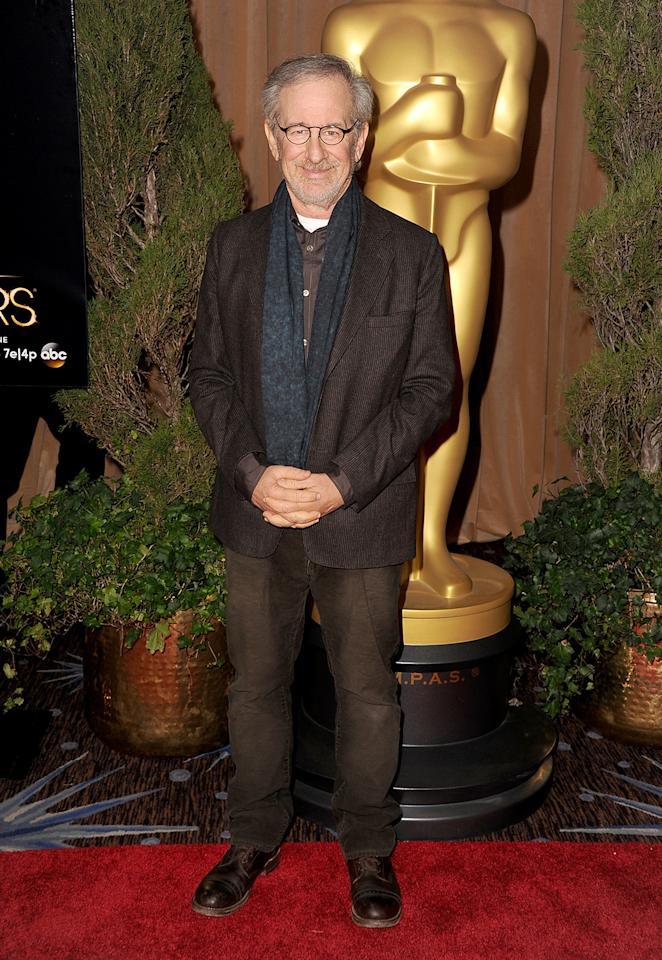 Steven Spielberg attends the 85th Academy Awards Nominees Luncheon at The Beverly Hilton Hotel on February 4, 2013 in Beverly Hills, California.  (Photo by Steve Granitz/WireImage)