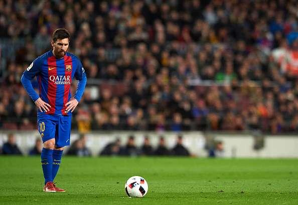 A Lionel Messi free kick once again steered Barcelona s ship in the  quarter-finals of the Copa Del Rey overcoming the 2-1 deficit they had  found themselves ... 839bc5f5bcc51