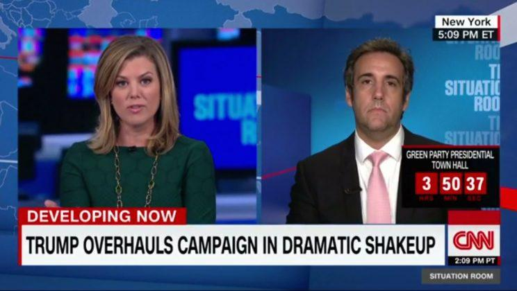 CNN's Brianna Keilar interviewing longtime Donald Trump aide Michael Cohen. (Screenshot: CNN/The Situation Room)