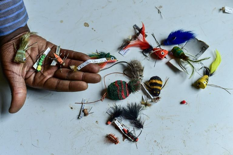 Kenya has a fly fishing industry that for decades has supplied fishermen from Norway to New Zealand (AFP/Simon MAINA)