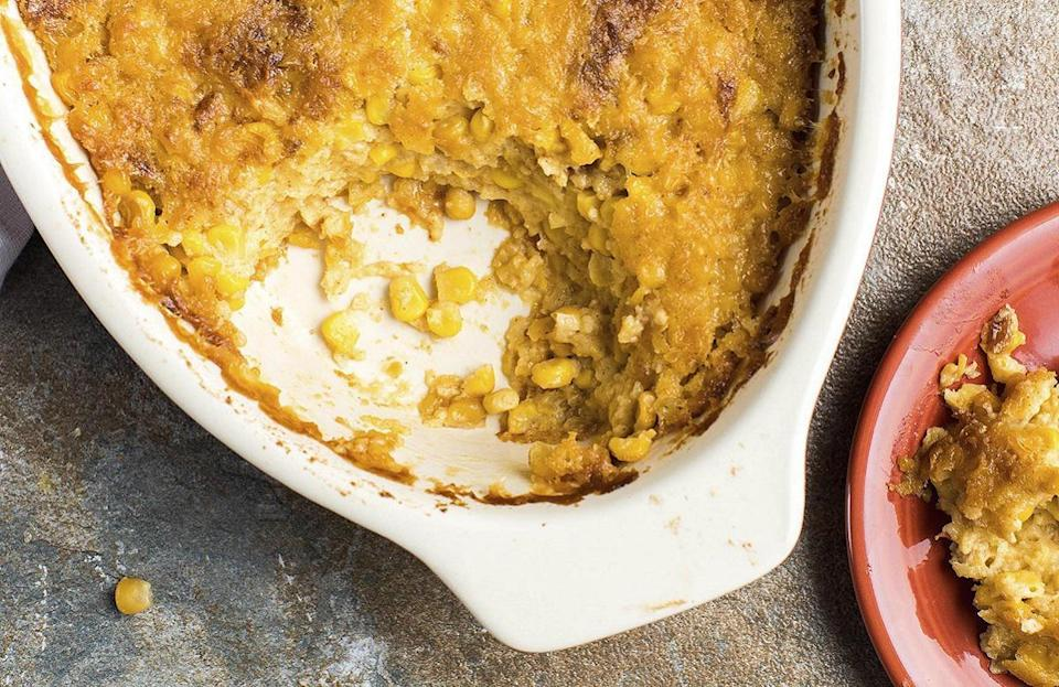 """<p>If you've never served corn pudding during Thanksgiving, now is the time to start. This hearty recipe can easily be <a href=""""https://www.thedailymeal.com/cook/quick-dinner-dishes-you-can-make-out-cans-gallery?referrer=yahoo&category=beauty_food&include_utm=1&utm_medium=referral&utm_source=yahoo&utm_campaign=feed"""" rel=""""nofollow noopener"""" target=""""_blank"""" data-ylk=""""slk:made out of cans"""" class=""""link rapid-noclick-resp"""">made out of cans</a>.</p> <p><a href=""""https://www.thedailymeal.com/recipes/chipotle-corn-pudding-recipe?referrer=yahoo&category=beauty_food&include_utm=1&utm_medium=referral&utm_source=yahoo&utm_campaign=feed"""" rel=""""nofollow noopener"""" target=""""_blank"""" data-ylk=""""slk:For the Chipotle Corn Pudding recipe, click here."""" class=""""link rapid-noclick-resp"""">For the Chipotle Corn Pudding recipe, click here.</a></p>"""