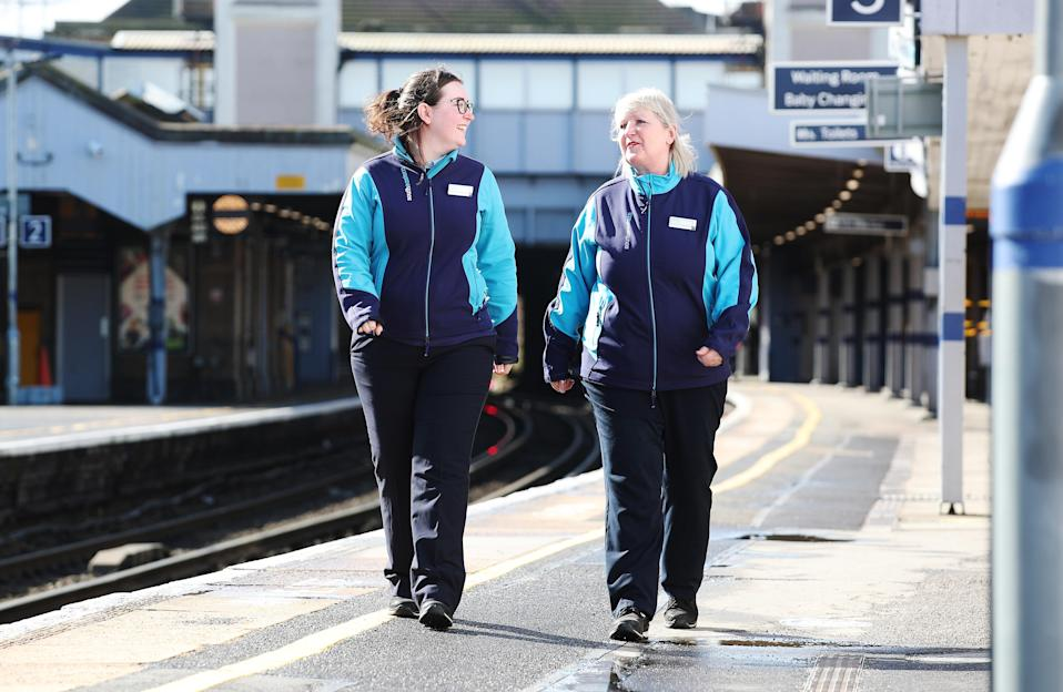 The pair are based at Gillingham station, Kent (Southeastern/PA)