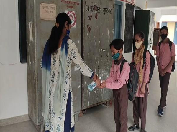Visual from a school in Moradabad (Photo/ANI)