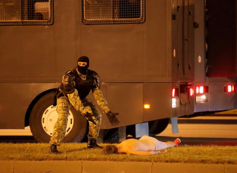 Belarusian protester, reported dead, says he survived police beating