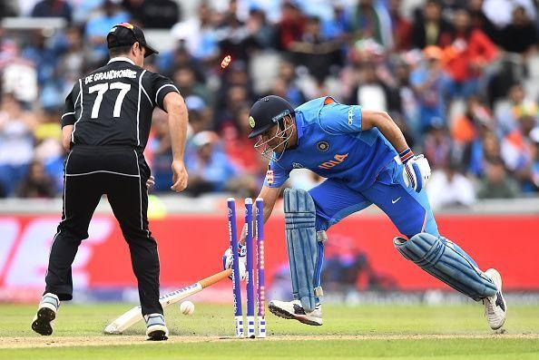 A direct hit by Martin Guptill ended MS Dhoni's World Cup story