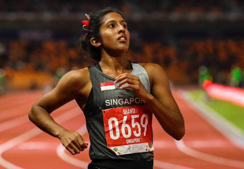 Sprinter Shanti Pereira was the lone spark for Singapore in track and field, winning two bronzes. (PHOTO: Sport Singapore)