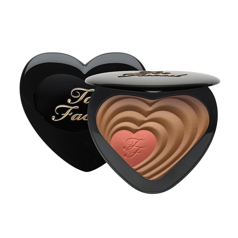 You should buy this blush and bronzer duo just for the color names: Ross & Rachel and Carrie & Big. Too Faced Soul Mates Blushing Bronzer ($34)