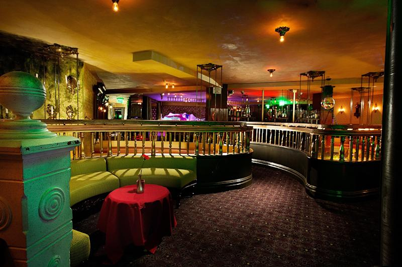 This image provided by The Act nightclub shows the interior of the club located at the Palazzo hotel-casino on the Las Vegas Strip. The Palazzo wants to terminate their 10-year agreement with the nightclub after 10 months of operation. They say the shows at the venue inside the Palazzo are so raunchy they violate obscenity laws. (AP Photo/The Act Nightclub, Shane O'Neal)