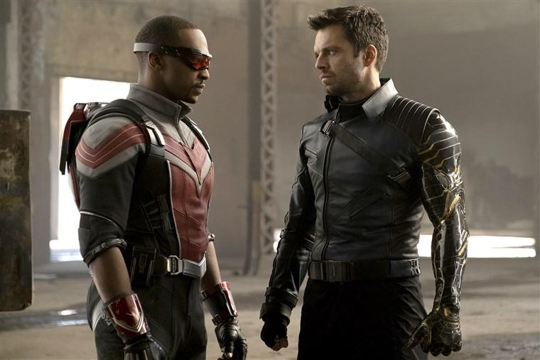 Anthony Mackie and Sebastian Stan in 'The Falcon and the Winter Solider' (Disney+)