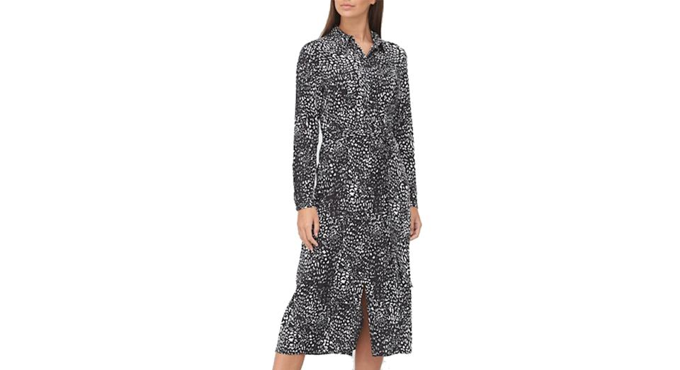 V by Very Printed Long Sleeve Shirt Dress