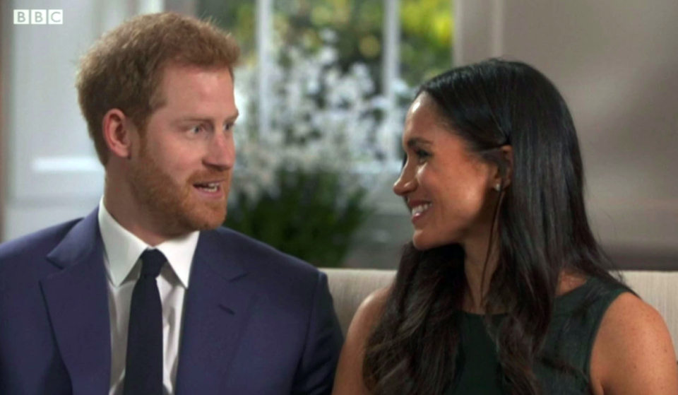 <em>Prince Harry said the Queen's corgis loved Meghan Markle when they met her (PA)</em>