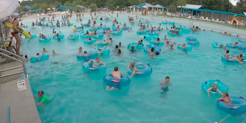 Would you be able to spot the drowning child in this video? Photo: YouTube