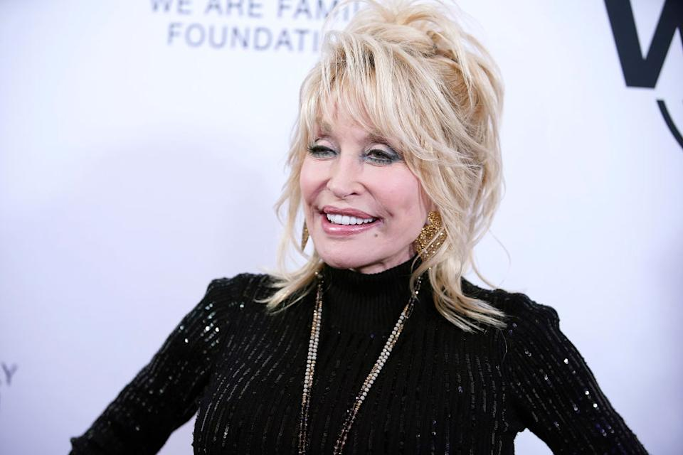 Dolly Parton has revealed she's open to recreating her iconic Playboy cover. Pictured here at Hammerstein Ballroom New York in November 2019 (Getty)