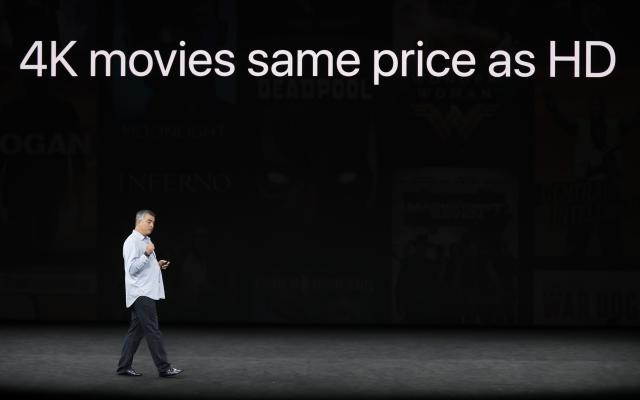 <p>If you've already purchased HD movies from iTunes, they'll be swaped with 4K versions at no charge. REUTERS/Stephen Lam </p>