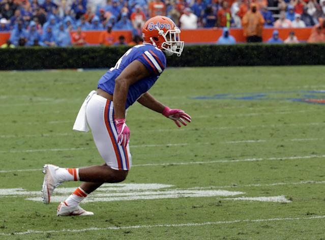 Florida CB Quincy Wilson occasionally was overshadowed in a talented Gators secondary. (AP)
