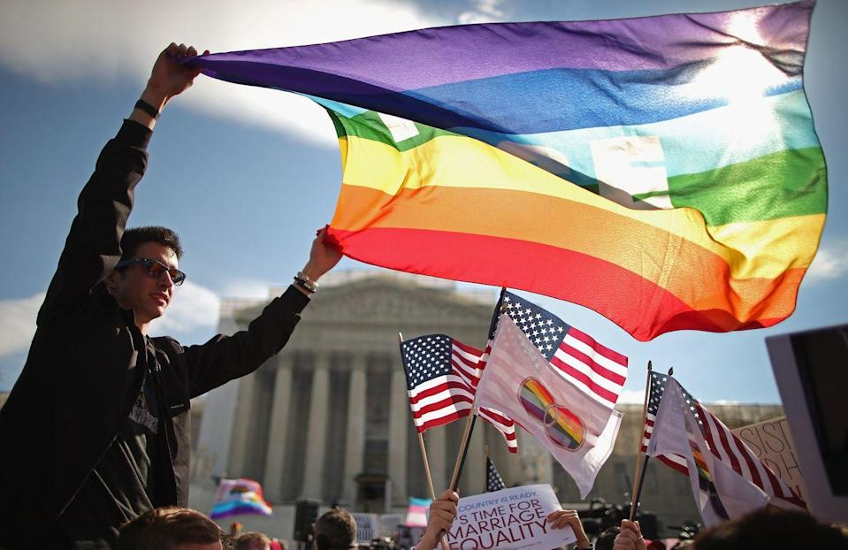 <p>Rhode Island, Delaware, Minnesota, Hawaii, Illinois, and New Mexico signed same-sex marriage into law in 2013, and Gov. Chris Christie finally dropped his appeal in New Jersey, legalizing gay marriage in the state. </p><p>In June 2013, the Supreme Court ruled that a key section of the Defense of Marriage Act (DOMA) was unconstitutional, and dismissed the challenge to Proposition 8, making same-sex marriage legal in California (again).</p>