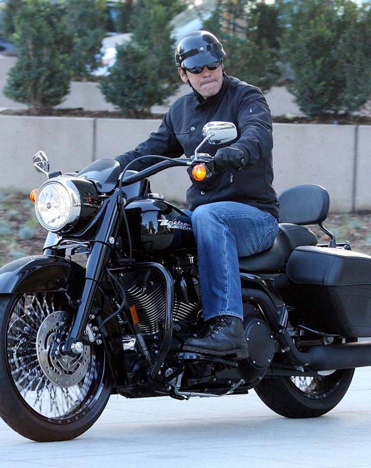 "George Clooney is born to be wild. <a href=""http://www.x17online.com"" target=""new"">X17 Online</a> - November 19, 2007"