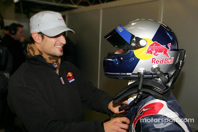 "Vitantonio Liuzzi y Christian Klien <span class=""copyright"">Red Bull Racing</span>"