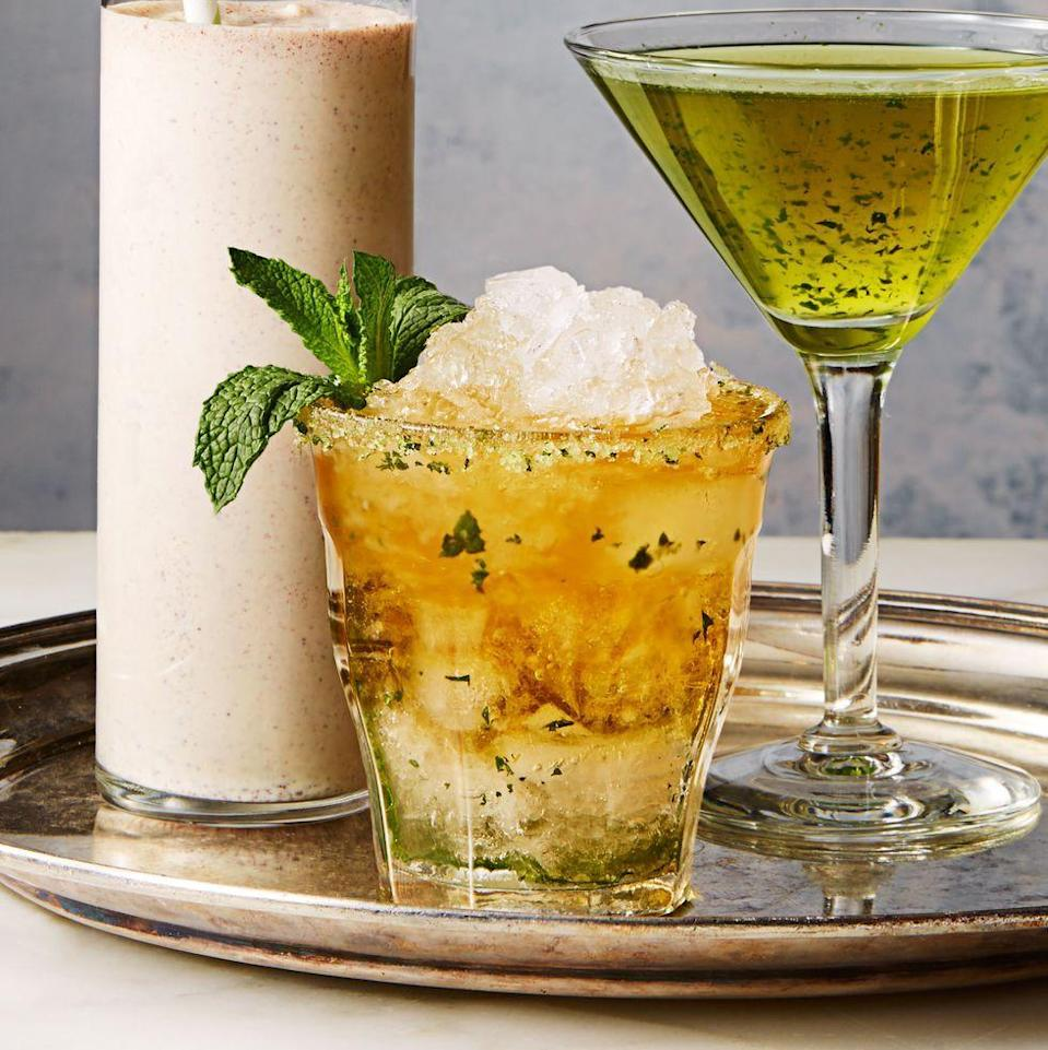 """<p>This refreshing bourbon cocktail is the perfect match for a spicy meal.</p><p><em><a href=""""https://www.goodhousekeeping.com/food-recipes/a38385/mint-julep-recipe/"""" rel=""""nofollow noopener"""" target=""""_blank"""" data-ylk=""""slk:Get the recipe for Mint Julep »"""" class=""""link rapid-noclick-resp"""">Get the recipe for Mint Julep »</a></em></p>"""