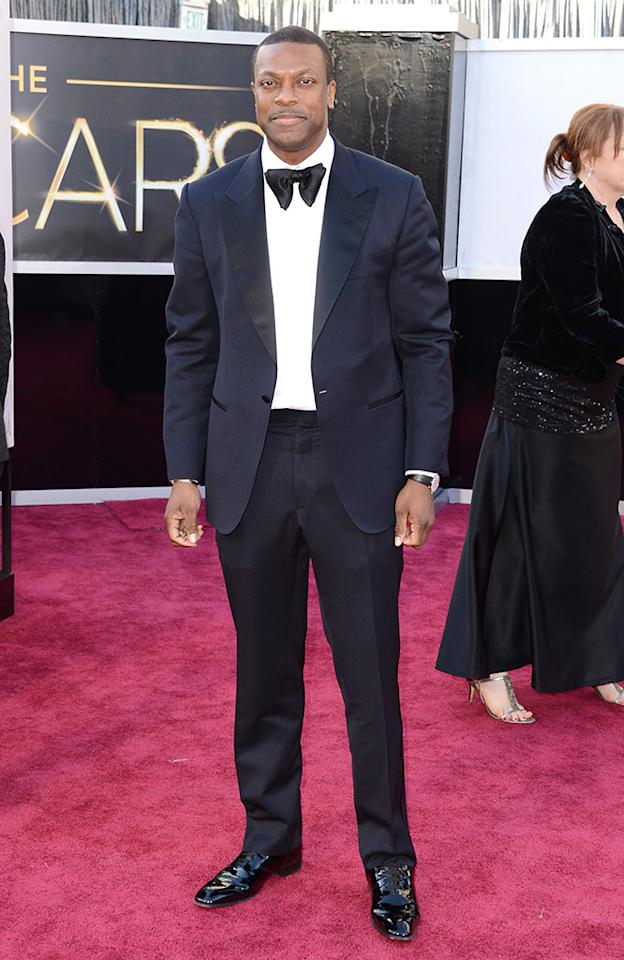 Chris Tucker arrives at the Oscars in Hollywood, California, on February 24, 2013.