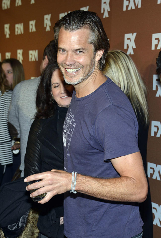 Timothy Olyphant attends the 2013 FX Upfront Bowling Event at Luxe at Lucky Strike Lanes on March 28, 2013 in New York City.