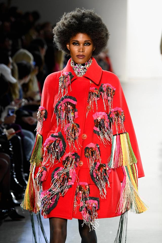 <p>The Afro takes this elaborate runway design to another level. (Photo: Getty Images) </p>