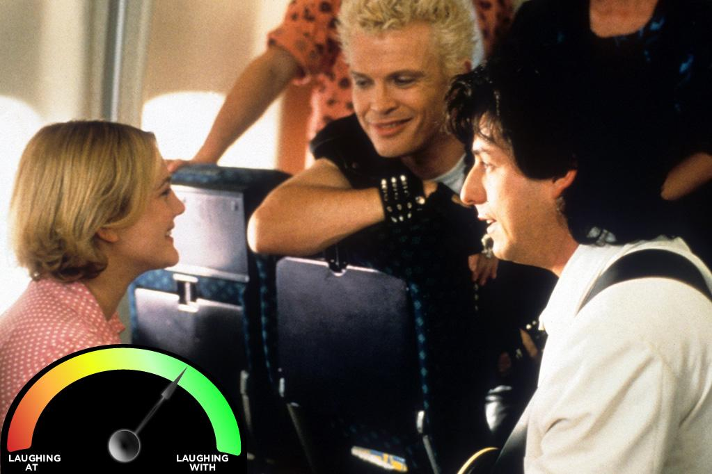 "<b>Billy Idol</b><br>""<a href=""http://movies.yahoo.com/movie/the-wedding-singer/"">The Wedding Singer</a>"" (1998)<br>Another classic Sandler cameo involves another musician who seems a lot less cool now than he did then: Billy Idol. That's why I'm not 100% laughing with Billy. But back in the day, Idol was a rock 'n' roll poet of the first degree, and anyone who can make me spend so much time contemplating what the heck ""Eyes Without a Face"" means deserves some gratuitous chuckles."