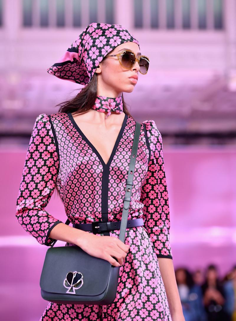 A model walks the runway during the Kate Spade New York Fashion Show during New York Fashion Week at New York Public Library on September 7, 2018 in New York City. (Photo by Angela Weiss / AFP) (Photo credit should read ANGELA WEISS/AFP/Getty Images)