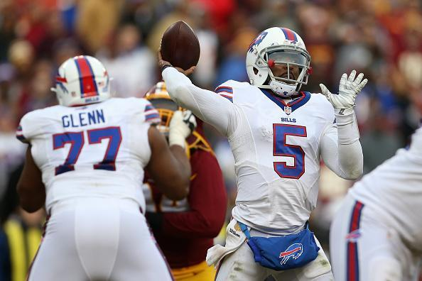 The Bills have traded QB Tyrod Taylor (R) and now Cordy Glenn as they look to shake up their offense. (Getty)