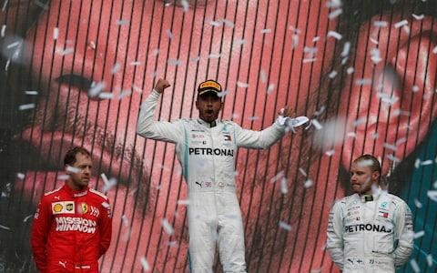 Vettel finished second, while Bottas was third - Credit: AP
