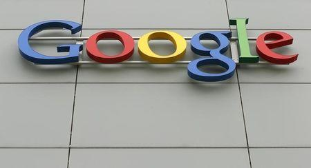 A logo is pictured at Google's European Engineering Center in Zurich