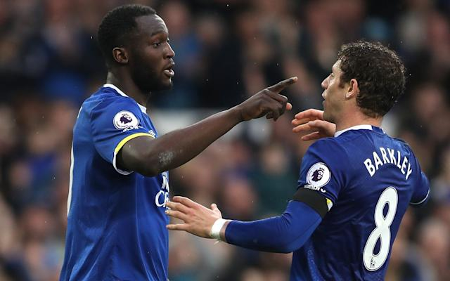 <span>Lukaku (left) and Barkley have been linked with big-money moves away from Everton</span> <span>Credit: Getty Images </span>