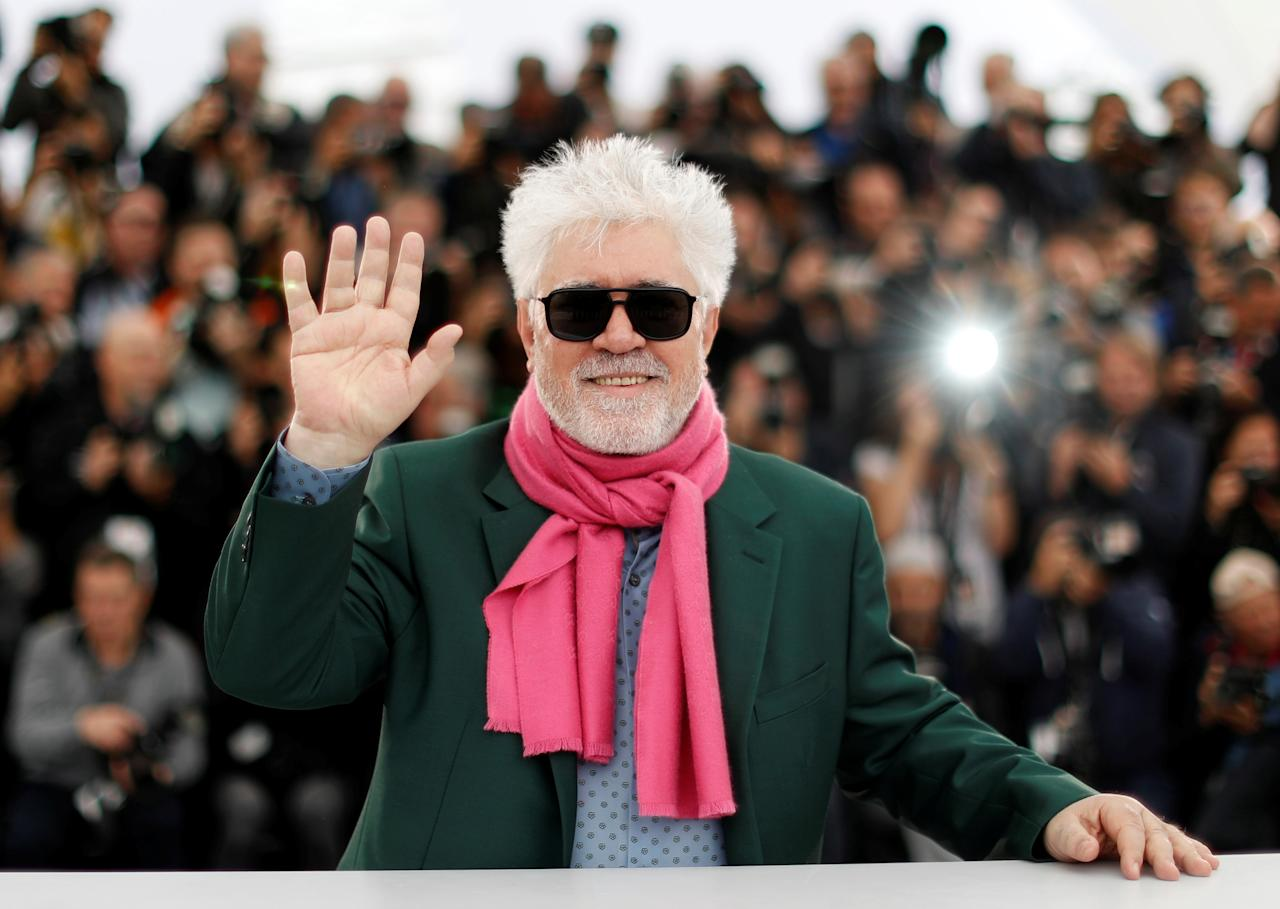 """72nd Cannes Film Festival - Photocall for the film """"Pain and Glory"""" (Dolor y Gloria) in competition - Cannes, France, May 18, 2019. Director Pedro Almodovar poses. REUTERS/Eric Gaillard     TPX IMAGES OF THE DAY"""