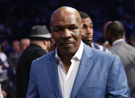 Boxing - Floyd Mayweather Jr. vs Conor McGregor - Las Vegas, USA - August 26, 2017 Mike Tyson before the fight REUTERS/Steve Marcus