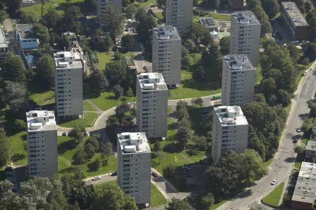 Aerial View of Apartments Blocks on a Council Estate, London, EnglandCreative image #: dv1774006License type: Royalty-freeP