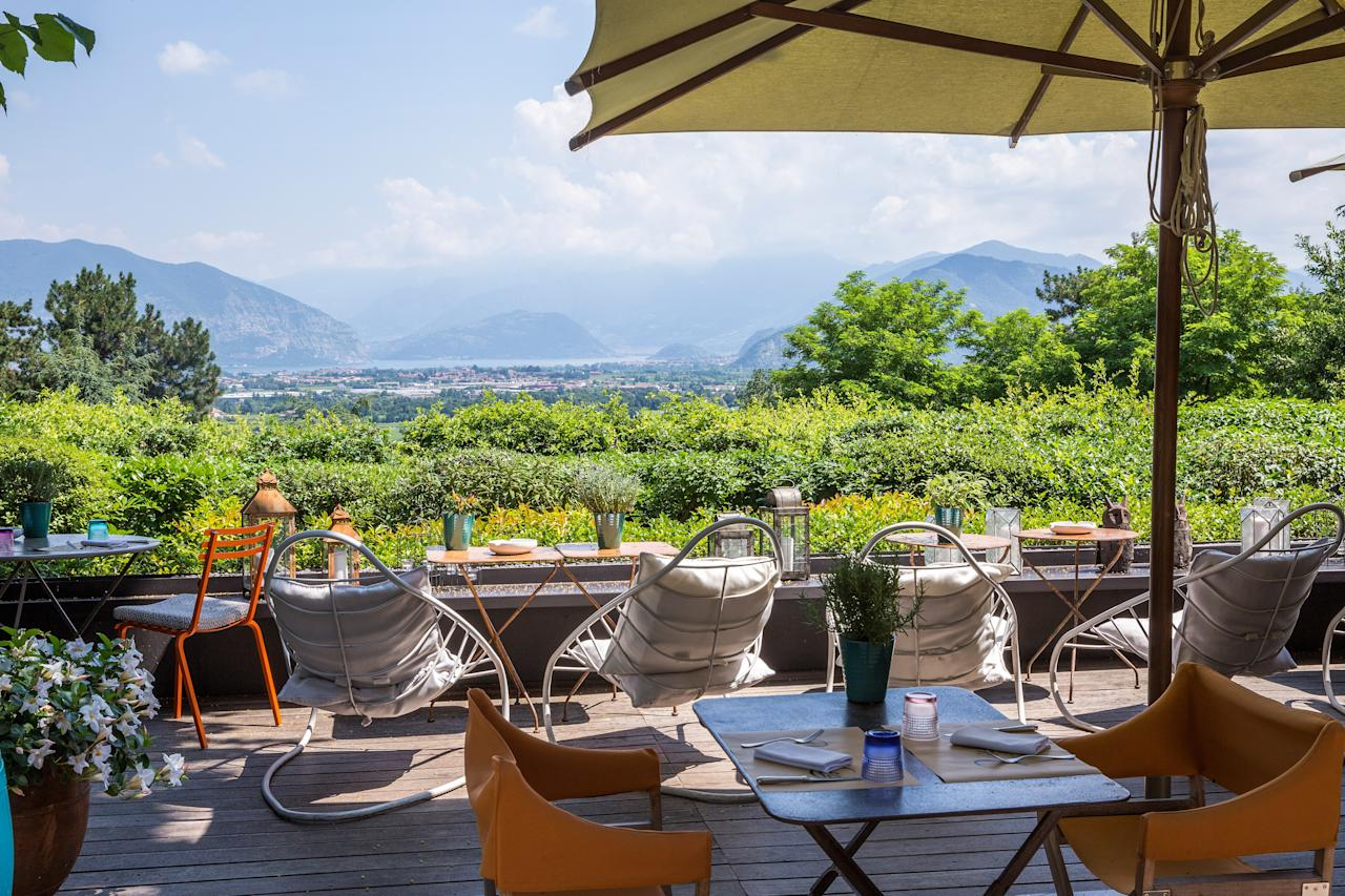 """This estate occupies a prime location among the rolling hills and vineyards of <a href=""""https://www.cntraveler.com/story/a-guide-to-franciacorta-italys-most-chill-wine-region?mbid=synd_yahoo_rss"""" target=""""_blank"""">Franciacorta</a>, a major region for sparkling wine production. The undeniably luxurious hotel has something of a split personality. The majority of the space and its offerings are large and lavish, like the guest rooms, high-end boutique, and the new restaurant Leonefelice Vista Lago, with a view over Lake Iseo. But the remainder of the hotel is focused on self-care, well-being, and a serious detox program that includes a strict eating regimen and some distinctive spa treatments from Espace Henri Chenot."""