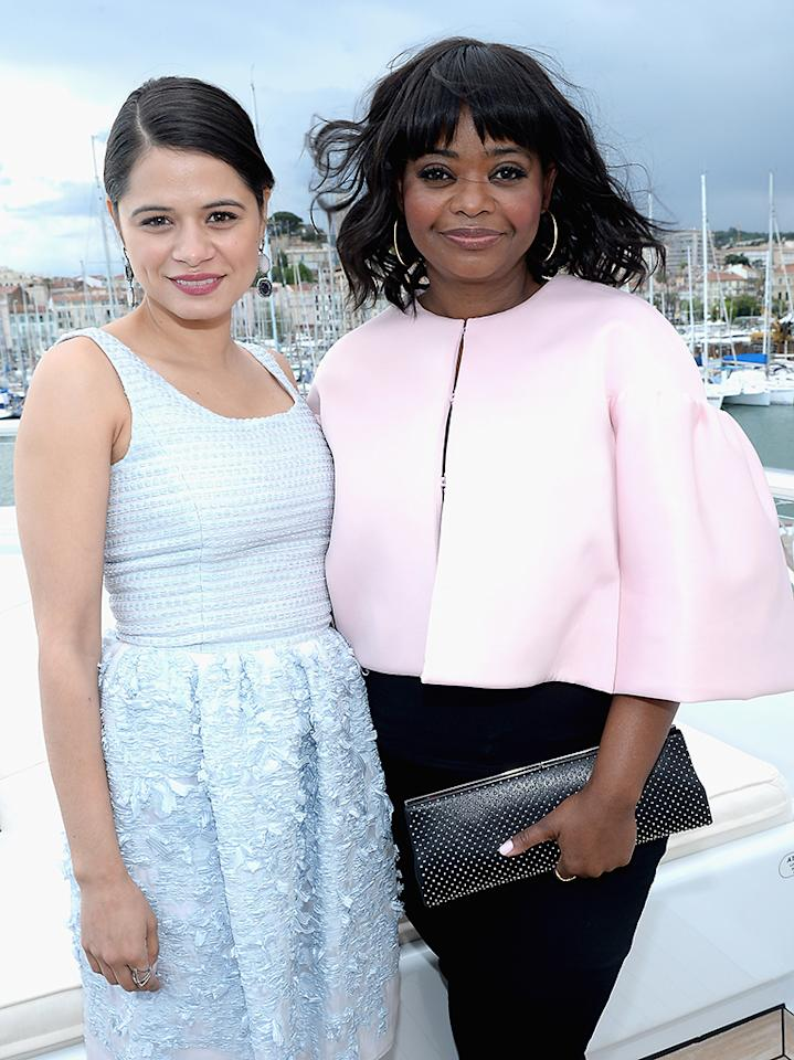CANNES, FRANCE - MAY 19:  Melonie Diaz and Octavia Spencer attend The Art of Elysium, Rabbit Bandini and Leon Max event for Ahna O'Reilly at Festival de Cannes during the 66th Annual Cannes Film Festival at  on May 19, 2013 in Cannes, France.  (Photo by Michael Buckner/Getty Images for Torch)