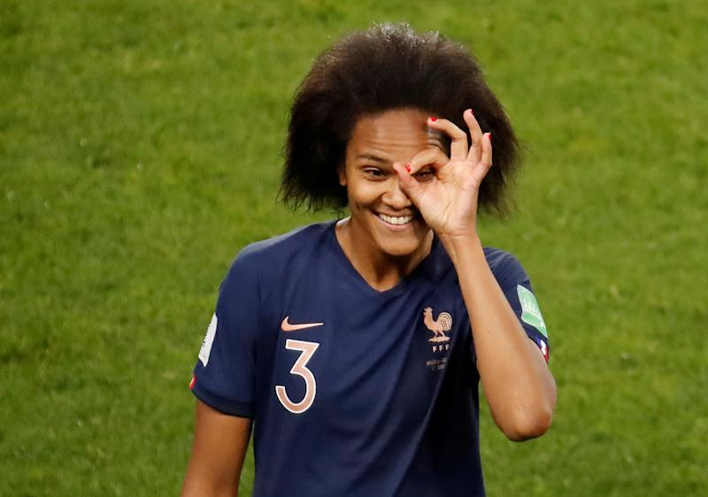 Soccer Football - Women's World Cup - Group A - Nigeria v France - Roazhon Park, Rennes, France - June 17, 2019 France's Wendie Renard celebrates after the match REUTERS/Christian Hartmann TPX IMAGES OF THE DAY