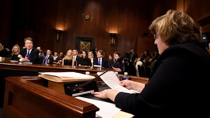 Rachel Mitchell and Brett Kavanaugh