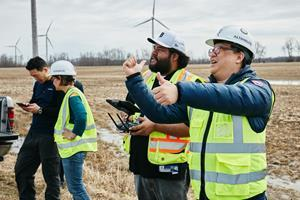 Altohelix is a leading training organization for drone inspection services. Here, the Company is working with 2 new wind turbine drone inspectors.