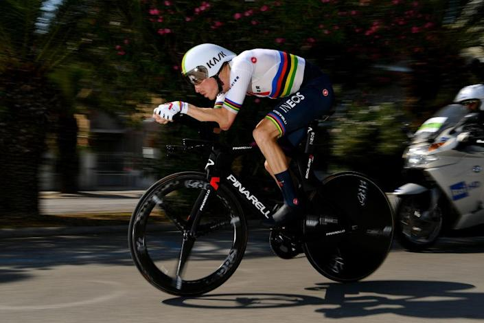 SAN BENEDETTO DEL TRONTO ITALY SEPTEMBER 14 Rohan Dennis of Australia and Team INEOS Grenadiers during the 55th TirrenoAdriatico 2020 Stage 8 a 101km Individual Time Trial in San Benedetto del Tronto ITT TirrenAdriatico on September 14 2020 in San Benedetto del Tronto Italy Photo by Justin SetterfieldGetty Images