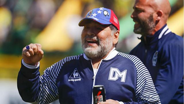 After three wins from eight matches in charge of Gimnasia y Esgrima La Plata, Diego Maradona has stepped down
