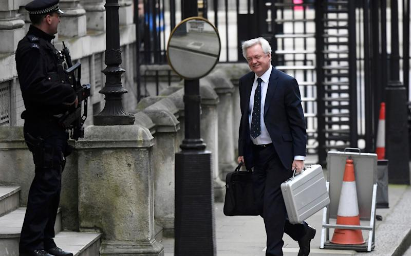 David Davis, Britain's Secretary of State for Leaving the European Union, arrives in Downing Street - Credit: REUTERS/Toby Melville