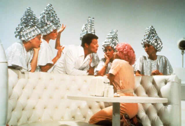 """Frankie Avalon croons """"Beauty School Dropout"""" in <i>Grease.</i> (Photo: Paramount Pictures/courtesy of the Everett Collection)"""
