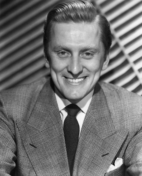 Kirk Douglas, pictured in an undated photo, was born Issur Danielovitch to Jewish-Russian immigrants in upstate New York in 1916