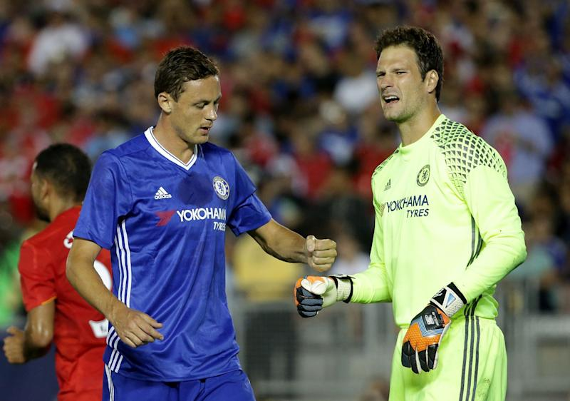 Asmir Begovic is enjoying Antonio Conte's training regime.