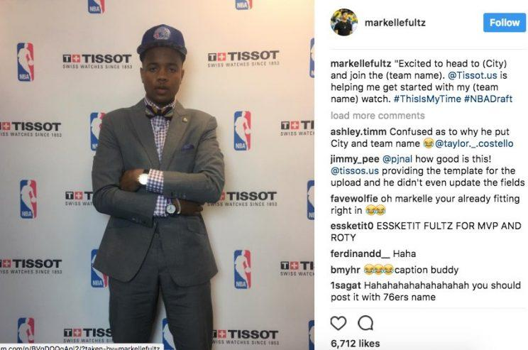 Markelle Fultz sure looks excited. (@rodger_sherman)