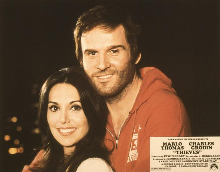 A US lobbycard for Thieves featuring Marlo Thomas and Grodin, 1977 - LMPC via Getty